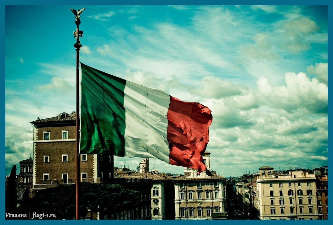 Italiya. Fotografii 030 - Флаги стран - Италия | IT