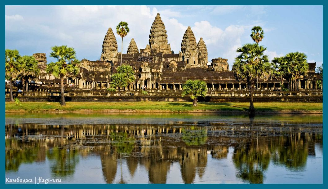 Strana Kambodzha fotografii. Flagi stran mira 26 - Флаги стран - Камбоджа   KH