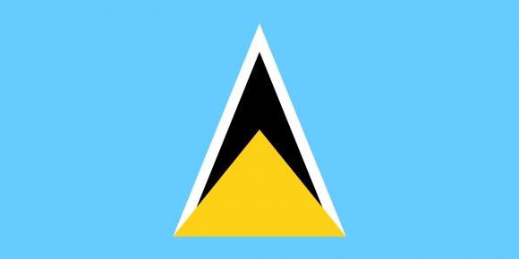 lc 1 - Флаги стран - Сент-Люсия | LC
