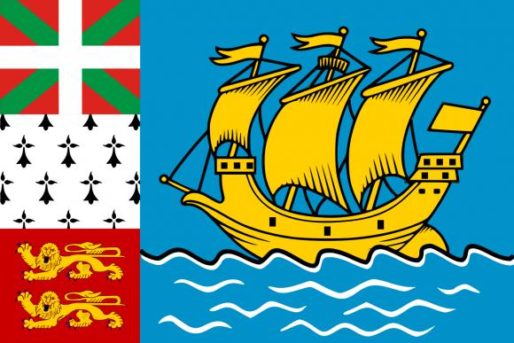 pm 1 - Флаги стран - Сен-Пьер и Микелон | PM