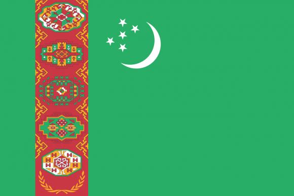 tm 1 - Флаги стран мира в HD! Цвета, значение и символика флагов - Туркмения | TM