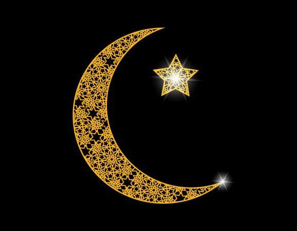ramadan card crescent with a star oriental vector 15141545 - Флаги стран мира в HD! Цвета, значение и символика флагов - Полумесяц со звездой как символ на флагах стран